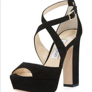 Jimmy Choo April Suede Platform Sandal